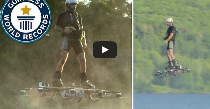Guinness World Record For The Farthest Flight On A Hoverboard